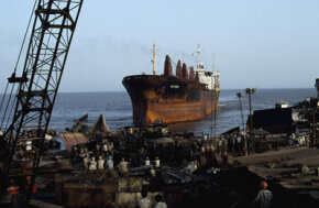 Recycling steel from ships like this one is a multimillion dollar industry. See more green science pictures.