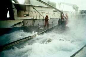 Fishing Image Gallery Commercial fishing in Alaska is one of the most dangerous jobs in the world. See more pictures of fishing.