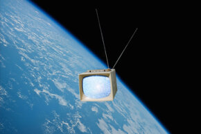 Aliens would have to have some extremely sensitive technology to pick up signals from FM radio and TV.