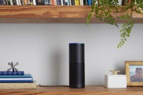 Echo can serve as a speaker for your online music library.