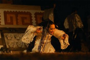 A actress in Mexico performs 'La llorona,' based upon the legend, as part of the Day of the Dead celebrations.