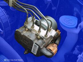 Anti-lock brake pump and valves