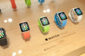Apple Watches on display at in a Paris boutique in September 2014
