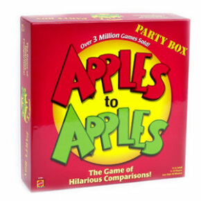 Apples to Apples is a popular -- and unpredictable -- party game.