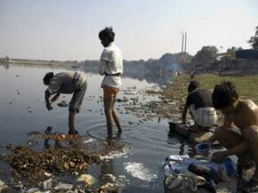 Nearly 40 percent of the global population has no reliable access to clean water and sanitation facilities. See more green science pictures.