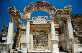 Ancient Ruins like those of the Temple of Hadrian on the Aegean Coast of Turkey attracted the attention of the Renaissance elite.