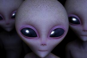 Artist's conception of an alien.