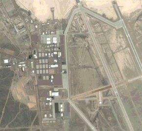 A satellite view of Area 51