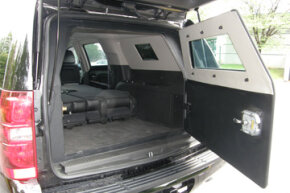 The Chevrolet Suburban is the most popular personal protection model.