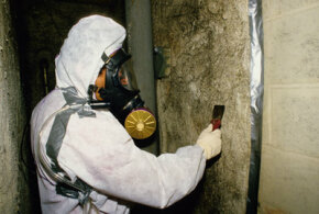 It is strongly recommended that homeowners hire a certified professional contractor -- like this one in New York City -- to deal with asbestos present in the house.
