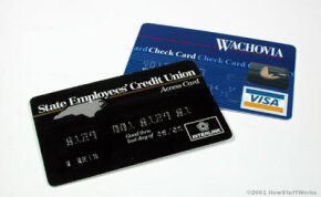 ATM cards and check cards can be used in different ways. See more banking­ pictures.