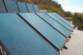 Solar panels like these can help garner water power -- and save money.