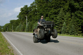 Dangerous ATV usage? You're soaking in it. See more off-roading pictures.