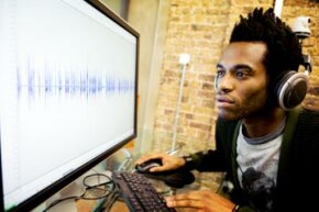 With Auto-Tune, a sound engineer can look at a singer's vocal take and tweak notes that are slightly off key.