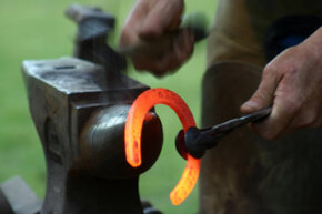 Blacksmiths have pounded metal into useful objects for thousands of years. See pictures of power tools.