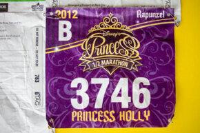 A very special princess B-Tagged racing bib
