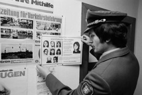 West German police search for nine members of the Red Army Faction (also known as the Baader-Meinhof Group) in 1976. The terrorist group unwittingly gave its name to the phenomenon of a thing you've just noticed or experienced suddenly cropping up constantly