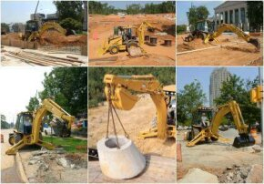 The backhoe has many applications.