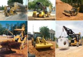The loader can do all sorts of jobs. (Click on each picture for a larger image.)