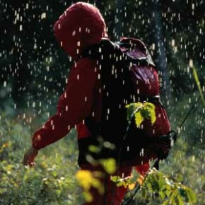 Rain can quickly drench your pack, so be sure its contents are protected.