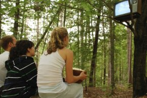 Dragging a TV and extension cord outside for the kids might be fun, but you can do even better.