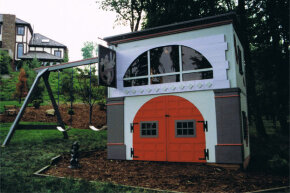 This Ghostbusters playset was custom designed by Lilliput Play Homes. It's OK if you want one. We do, too.