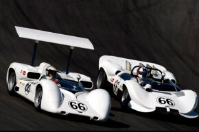 The spoiler on the Chaparral 2E was outlawed.