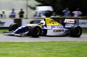 The Williams FW14B was banned because of its active suspension.