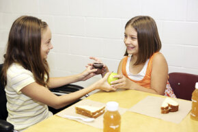 Trading lunches is commonplace at grade schools because bartering comes so naturally to kids.