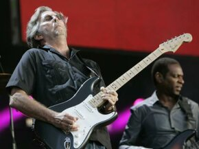 Eric Clapton performs at the Hard Rock Calling Festival on June 28, 2008 in London, England.