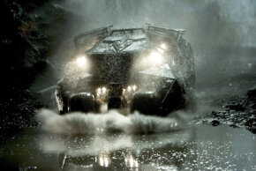 """The design of the batmobile for """"Batman Begins"""" started with model bashing."""
