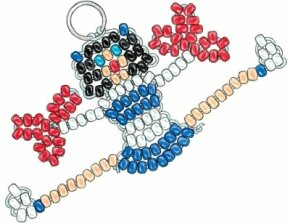 Hip-Hip Hooray Cheerleader Key Chain