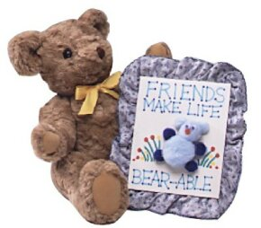 The lovable teddy bear plaque makes a special gift.