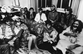 Yoga Image Gallery The Beatles give an audience to the Maharishi Mahesh Yogi in September 1967. From left to right: Paul McCartney, Jane Asher, Pattie Boyd, Ringo Starr, his wife Maureen, John Lennon, George Harrison and Maharishi Mahesh Yogi. See more yoga pictures.
