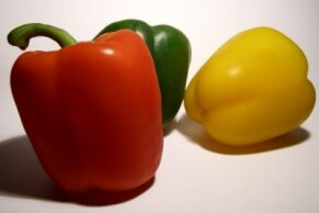 Peppers contain beta-carotene and vitamin C. See more pictures of vegetables.