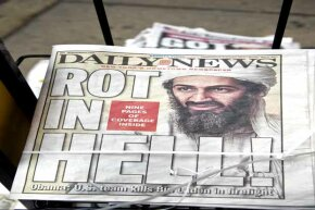 The New York Daily News cover says it all the day after Osama bin Laden was killed.