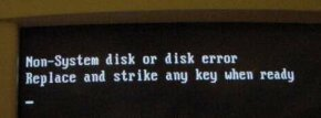 This is the message you receive if a disk is in the drive when you restart your computer.