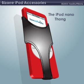 The iPod nano struts its stuff in a thong cover.