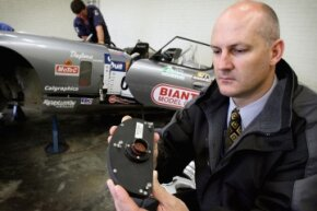 Not just for airplanes: The black box pictured here came from a race car that was involved in a crash in Australia in 2006.