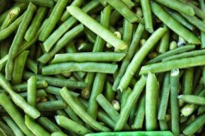 Before black-eyed peas are dried or canned, they're bright green in the garden.