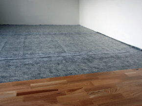 Insulation installed under the flooring will go a long way in keeping the noise out.