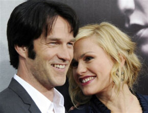 """Bill Compton and Sookie Stackhouse of HBO's """"True Blood"""" are played by real-life married couple Stephen Moyer and Anna Paquin."""