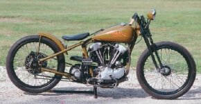The Board Track Replica has a 1931 Harley frame.
