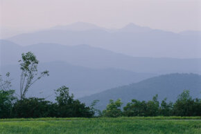 Looking West from the Blue Ridge Parkway in North Carolina's Pisgah National Forest. This tranquil setting became a crime scene when hikers John and Irene Bryant went missing after a hike.