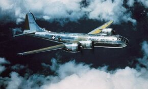 By March 1945, LeMay turned his big Boeing B-29 Superfortresses to nighttime, low-level incendiary raids against Japan. During the nights of March 10-20, incendiaries dropped from swarms of B-29s razed about 32 square miles of Japan's four most important cities.