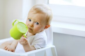 Don't do it, baby. Don't drop that cup. Don't -- you're totally going to do it, aren't you?