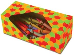 Keep your kids' crayons in a row with the crayon caddy box craft.