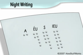 An example of the cells used in night writing