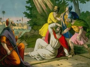 The conversion of Saint Paul to Christianity on the road to Damascus.