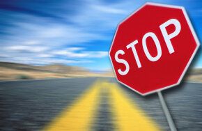 If you come to a stop sign, but can't get your car to stop, pump on your brakes or try your emergency brake. See more brake pictures.